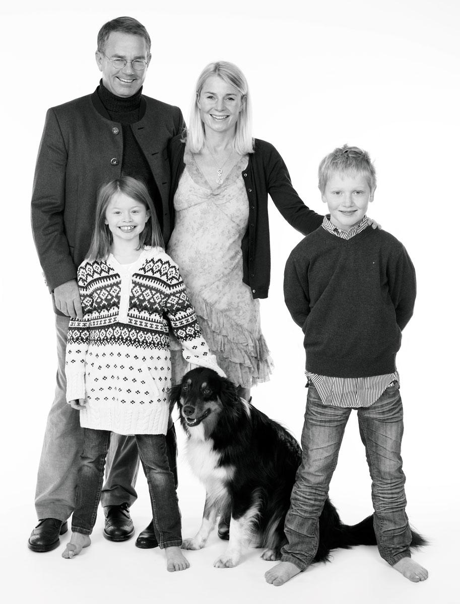 Familienfotografie Schwarzweiß
