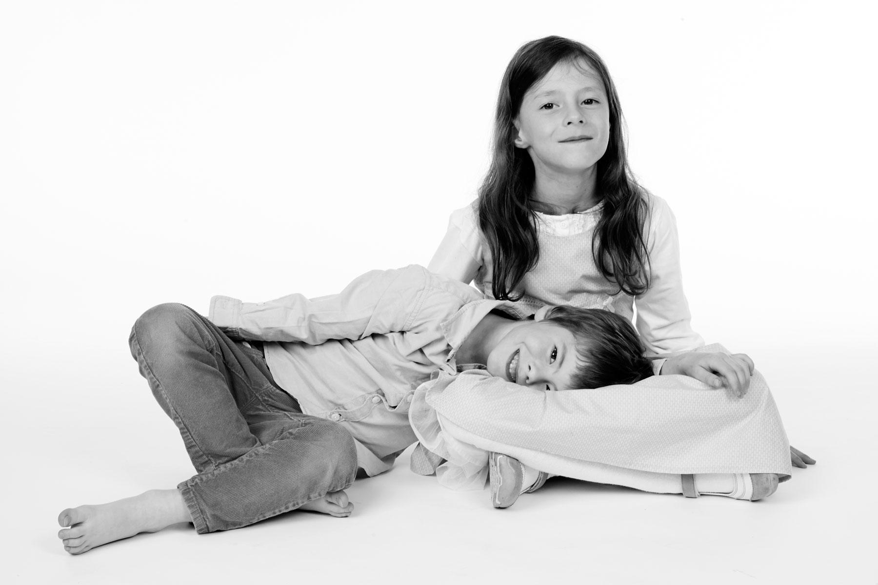 Familienfotos von Geschwistern