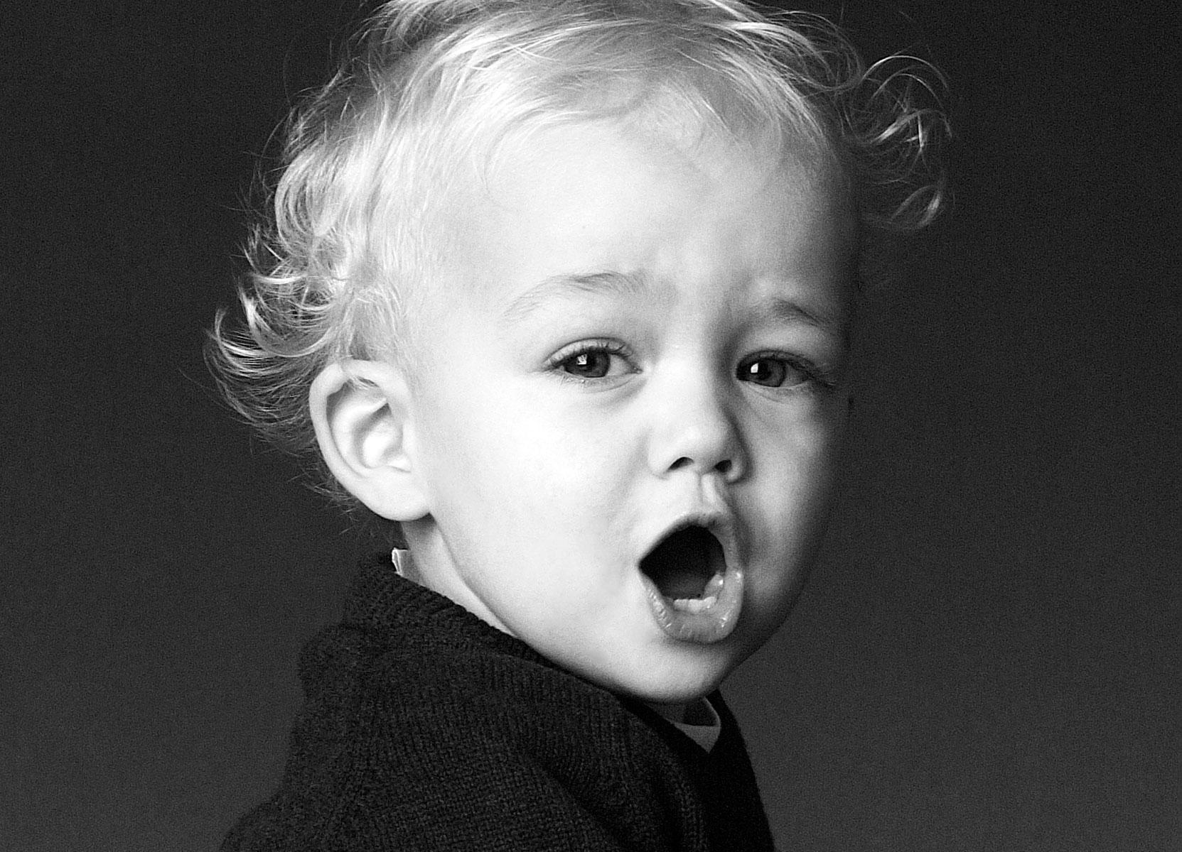 Kinderportraits Schwarzweiß