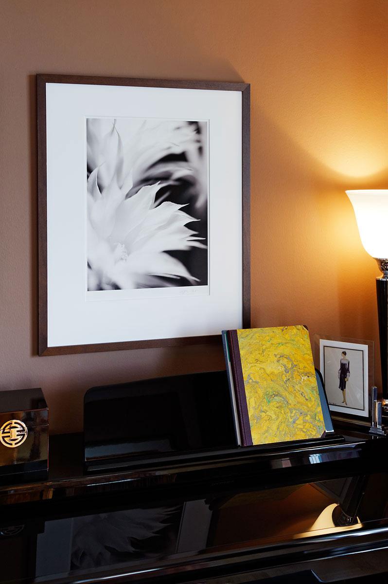Fine Art Fotografie an der Wand.
